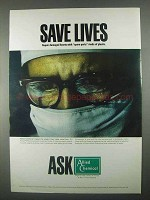 1967 Allied Chemical Ad - Save Lives