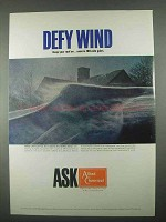 1967 Allied Chemical Ad - Defy Wind