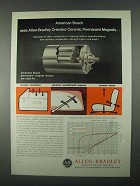 1967 Allen-Bradley Oriented Ceramic Magnets Ad