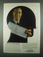 1967 Kaiser Aluminum Ad - Signed Blank Checks Paid Off