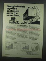 1967 Georgia-Pacific Ad - Plywood Containers Waterfront