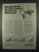 1967 Georgia-Pacific Ad - Plywood Deltas Mississippi
