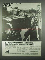 1967 Avco Corporation Ad - Not Many Passed Duesenberg