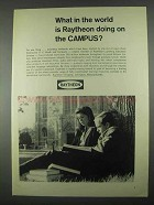 1967 Raytheon Company Ad - Doing on the Campus
