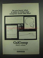 1967 CalComp Plotting Systems Ad - Draw Like This
