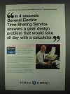 1967 General Electric Computer Time-Sharing Service Ad - 4 Seconds