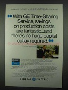 1967 General Electric Computer Time-Sharing Service Ad