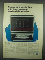 1967 Burroughs Input and Display Systems Ad - Faster