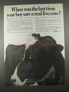 1967 Ohio Edison Company Ad - A Real Live Cow