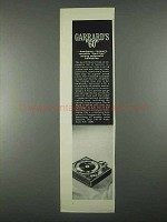 1967 Garrard's 60 / Mark II Turntable Ad - Handsome
