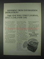 1967 Wall Street Journal Ad - Information Indigestion