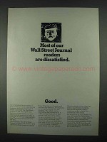 1967 The Wall Street Journal Ad - Readers Dissatisfied