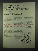 1967 The Wall Street Journal Ad - Second Biggest Daily