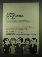 1967 Investor-Owned Electric Light & Power Companies Ad - Partners