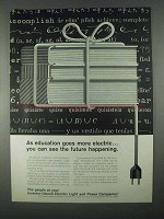 1967 Investor-Owned Electric Light & Power Companies Ad - Education