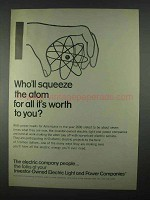 1967 Investor-Owned Electric Light & Power Companies Ad - Squeeze Atom