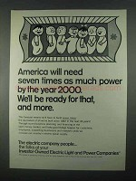 1967 Investor-Owned Electric Light & Power Companies Ad - More Power