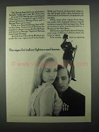 1967 Bering Cigars Ad - For Indian Fighters And Lovers