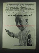 1967 Bering Cigars Ad - Can Man Replace the Machine?