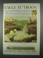 1967 Gold Label Palma Candela Cigar Ad - Eagle at Troon