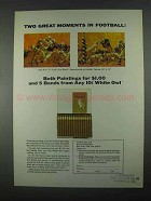 1967 White Owl Cigars Ad - Moments in Football