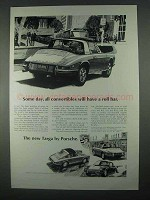 1968 Porsche 911L Targa Ad - Convertibles Have Roll Bar