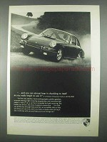 1967 Porsche Car Ad - Almost Hear It Chuckling