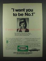 1967 National Car Rental Ad - I Want You To Be No.1