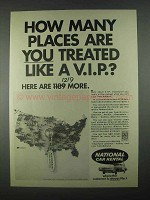 1967 National Car Rental Ad - Treated Like a V.I.P.