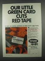 1967 National Car Rental Ad - Cuts Red Tape
