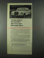 1967 Mercedes-Benz Cars Ad - Driving Urge To See Europe
