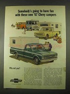 1967 Chevrolet Campers Ad - Chassis-Cab, Sportvan 108