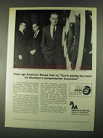 1967 American Mutual Insurance Ad - Paying Too Much
