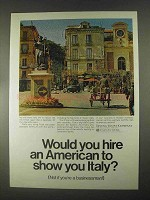 1967 Irving Trust Bank Ad - Hire to Show You Italy