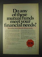 1967 IDS Investors Diversified Services Ad - Your Needs