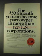 1967 IDS Investors Diversified Services Ad - Part Owner