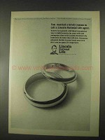 1967 Lincoln National Life Ad - Married a Lovely Reason