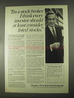 1967 Members New York Stock Exchange Ad - Consider