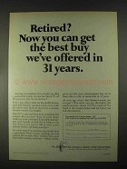 1967 The Equitable Life Assurance Ad - Retired?