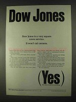 1967 Dow Jones Ad - Very Square News Service