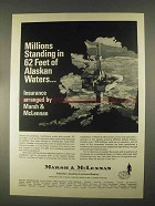 1967 Marsh & McLennan Insurance Ad - Alaskan Waters
