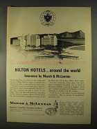 1967 Marsh & McLennan Insurance Ad - Hilton Hotels