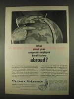 1967 Marsh & McLennan Insurance Ad - Abroad