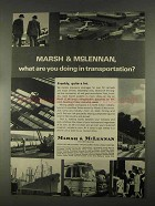 1967 Marsh & McLennan Insurance Ad - Transportation