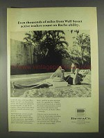 1967 Bache & Co. Ad - Miles From Wall Street