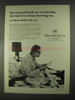 1967 Bache & Co. Ad - Mutual Funds Are Worthwhile