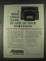 1967 Allstate Savings & Loan Ad - High Yield Name