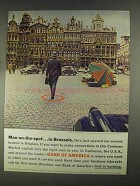 1967 Bank of America Ad - Man-on-the-Spot in Brussels