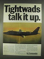1967 Jet Commander Plane Ad - Tightwads Talk it Up
