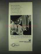 1967 Japan Air Lines Ad - Discover the Classic Graces